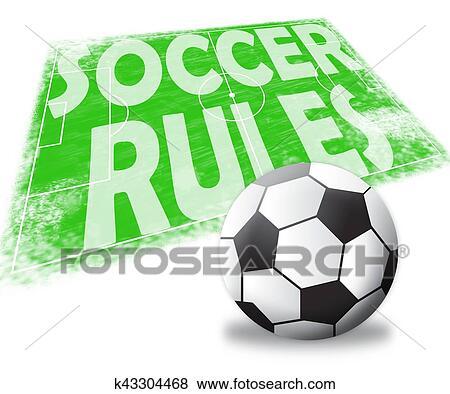 Soccer Rules Shows Football Regulations 3d Illustration Stock