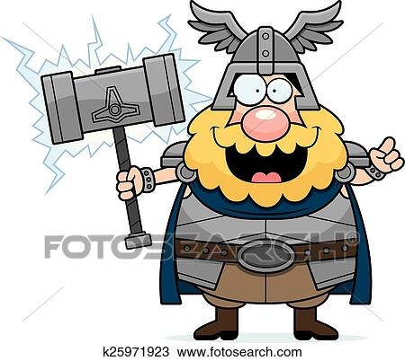 Clipart Caricatura Thor Idea K25971923 Buscar Clip Art