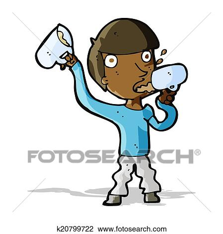 clipart of cartoon man drinking beer k20799722 search clip art rh fotosearch com drinking clipart black and white drinking clip art pics