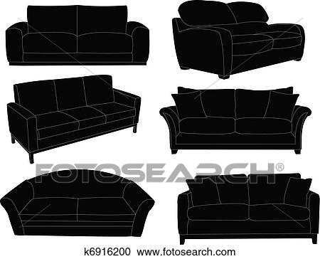 Collection Of Sofa Clipart K6916200 Fotosearch