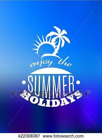 clip art of enjoy the summer holidays poster design k22308387