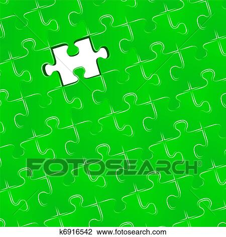 Jigsaw Puzzle With One Missing Piece Vector Illustration