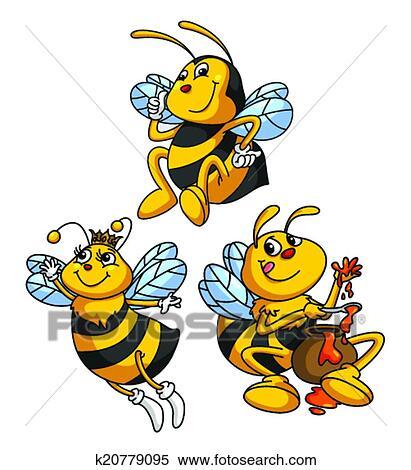 Favori Clipart - abeille, rigolote, dessin animé k20779095 - Recherchez  FO46