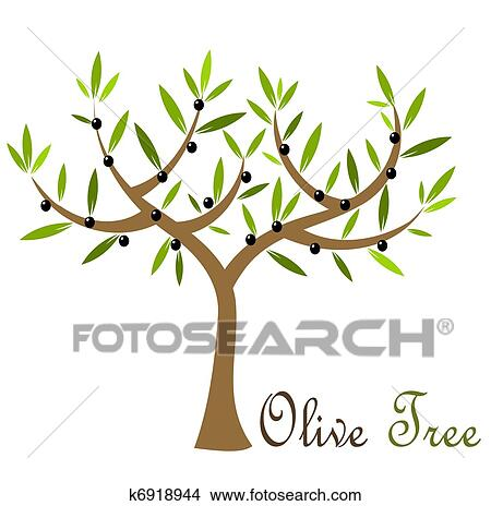 Olive Tree Clipart K6918944 Fotosearch