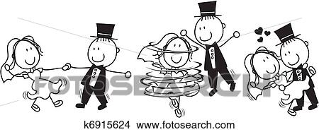 Klipart Pierwszy Taniec ślub Rysunek K6915624 Szukaj Cliparty