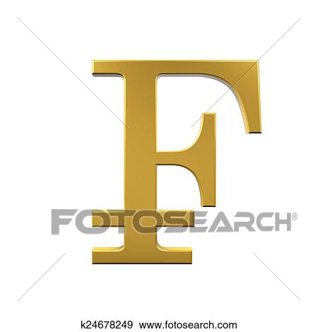 Stock Illustration Of Swiss Franc Symbol K24678249 Search Vector