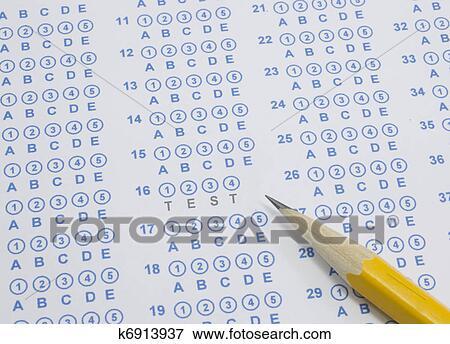 Test on scantron Stock Photo