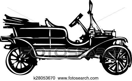 Clipart Of Vintage Car K28053670 Search Clip Art Illustration