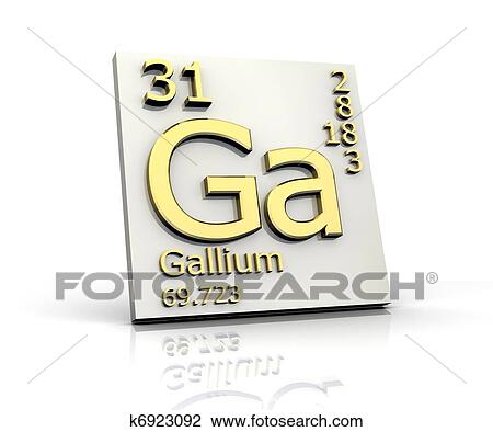 Clip Art Of Gallium Form Periodic Table Of Elements K6923092