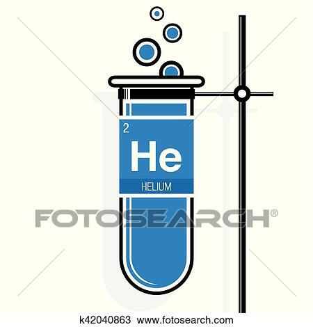 Clipart helio smbolo en etiqueta en un azul probeta con clipart helio smbolo en etiqueta en un azul probeta con holder elemento nmero 2 de el tabla peridica de el elementos qumica urtaz Gallery