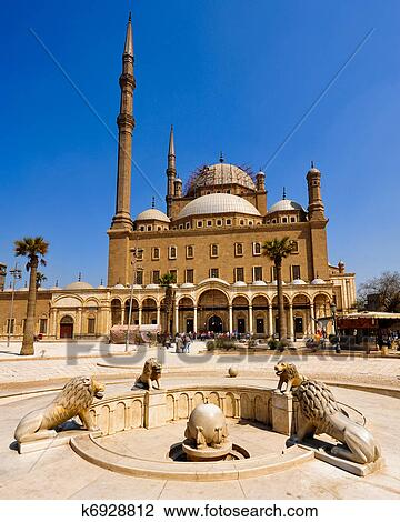 Mosque Of Mohamed Ali Cairo Stock Image K6928812 Fotosearch