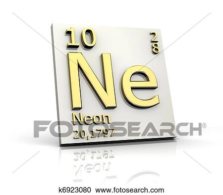 Stock Illustrations Of Neon Form Periodic Table Of Elements K6923080