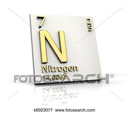 Stock illustration of nitrogen form periodic table of elements nitrogen form periodic table of elements 3d made urtaz Gallery