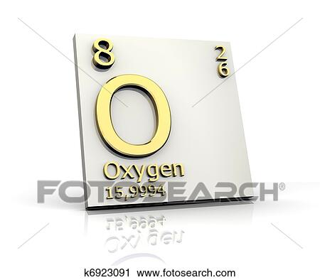 Clipart of oxygen form periodic table of elements k6923091 search clipart oxygen form periodic table of elements fotosearch search clip art illustration urtaz Images