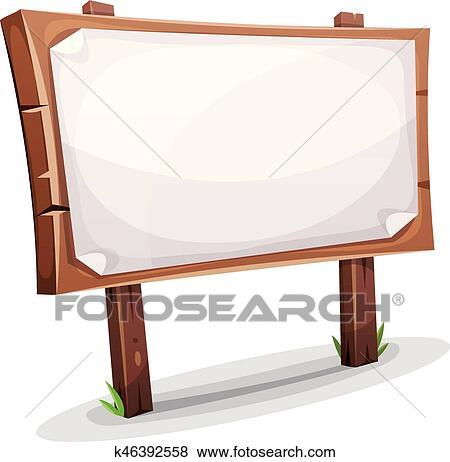 Sensational Rural Wood Sign Clip Art K46392558 Fotosearch Ibusinesslaw Wood Chair Design Ideas Ibusinesslaworg