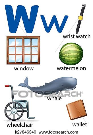 things that start with letter a clipart 19 clipart of things that start with the letter w k27846340 518