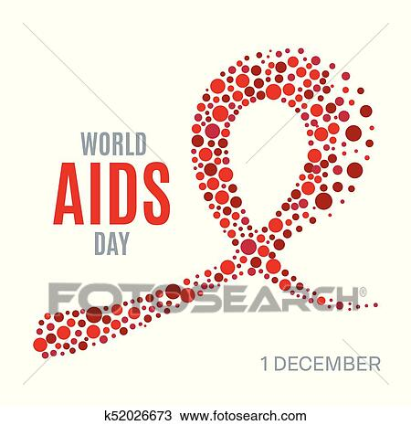 Clipart Of World Aids Day Poster K52026673 Search Clip Art