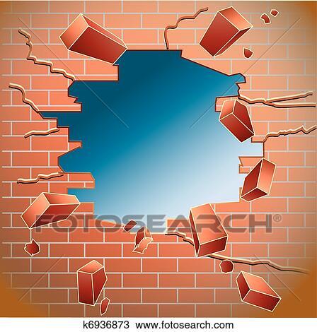 Mur Brique Clipart K6936873 Fotosearch
