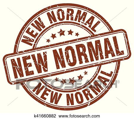 New Normal Brown Grunge Stamp Clipart K41660882 Fotosearch
