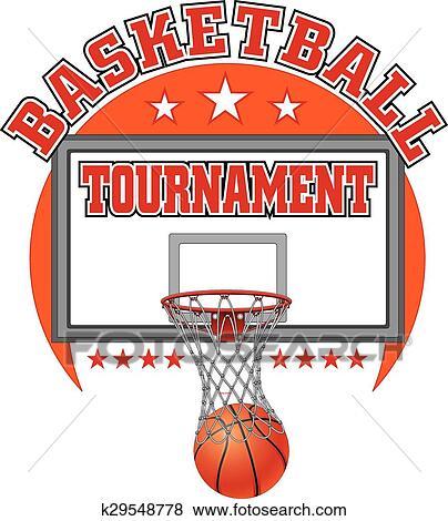 Clip Art Of Basketball Tournament Design K29548778 Search Clipart