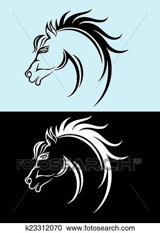ecb7176869f Horse face Clipart | k23312070 | Fotosearch