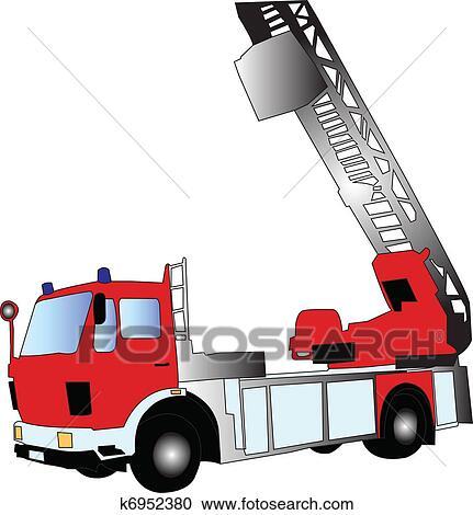 Klipart Itfaiye Arabası Vector K6952380 Clipart Duvar