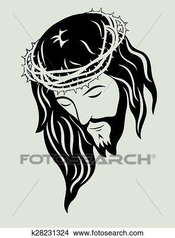 Jesus Christ Face Clipart K28231324 Fotosearch