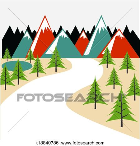clip art of nature forest design k18840786 search clipart rh fotosearch com nature clip art for kids nature clipart images
