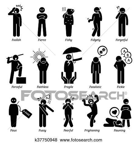 clip art of negative character traits k37750948 search clipart