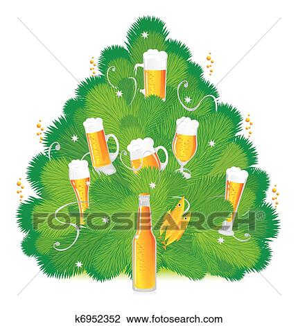 clipart of new year s beer k6952352 search clip art illustration rh fotosearch com Baby New Year New Year 2018 Clip Art