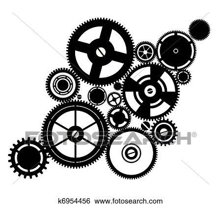 clipart silhouette rouage horloge k6954456 recherchez des cliparts des illustrations des. Black Bedroom Furniture Sets. Home Design Ideas