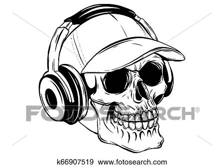 Headphones Listening to Music Clip Art