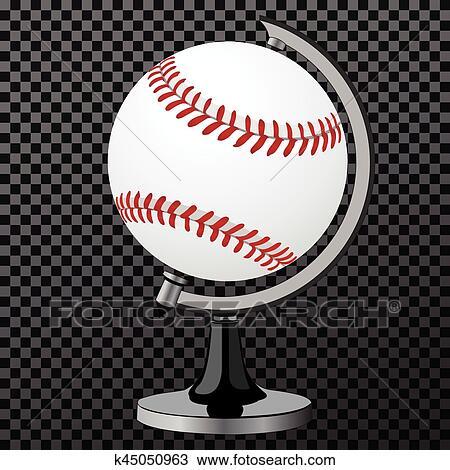 Vector Baseball Baseball Globe Isolated Over Transparent Background Vector Illustration Clipart K45050963 Fotosearch