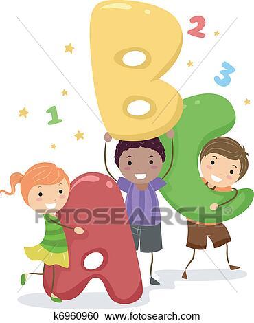 Clipart Of ABC Kids K6960960