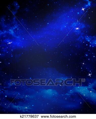 Archivio Illustrazioni Estratto Sfondo Blu Cielo Stellato