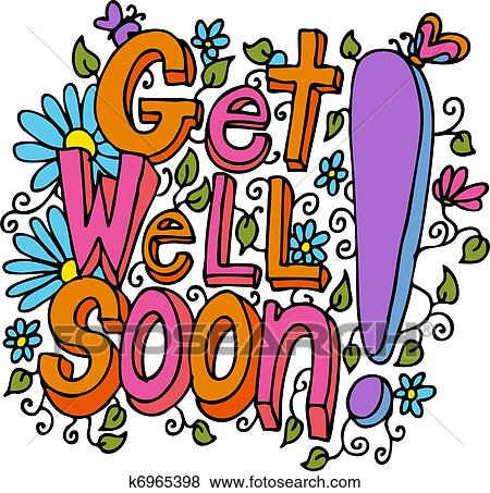 clip art of get well soon message k6965398 search clipart