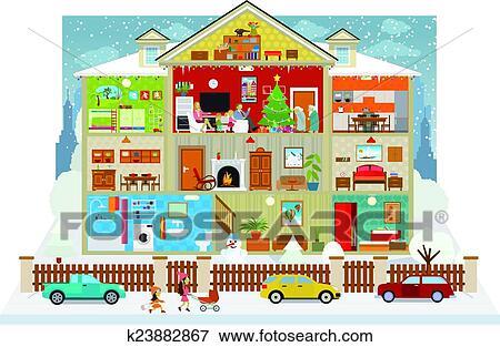 Dessiner interieur maison avie home - Dessin d interieur de maison ...
