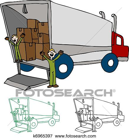 clip art of moving truck company k6965397 search clipart rh fotosearch com concrete block clipart concrete clip art free