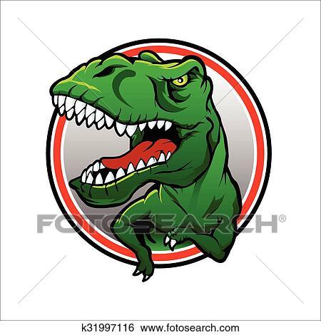 clip art of tyranosaurus rex vector drawing k31997116 search rh fotosearch com t rex vector art t rex vector logo