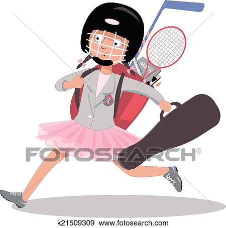 Clip Art Of After School Program K21509309 Search Clipart