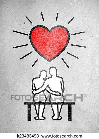 Dessin Amour Couple K23483493 Recherchez Des Cliparts Des