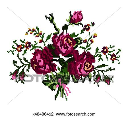 Couleur Bouquet De Flowers Dessin