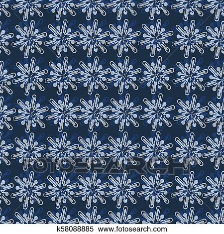 Fashion Seamless Christmas Pattern With Golden Snowflakes