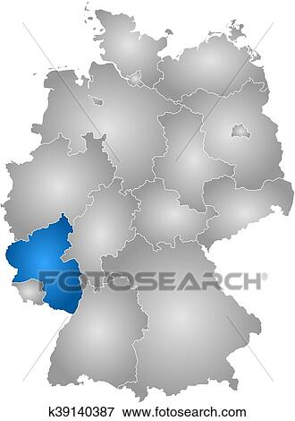 Map Of Germany Rhineland.Map Germany Rhineland Palatinate Clip Art