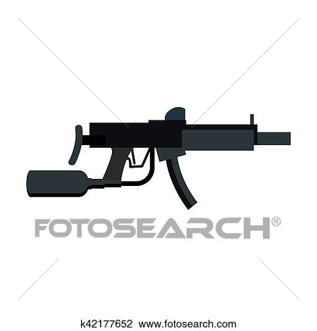 Paintball Gun Isolated Sports Weapons Play Rifle Clipart K42177652 Fotosearch