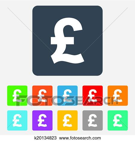 Clipart Of Pound Sign Icon Gbp Currency Symbol K20134823 Search