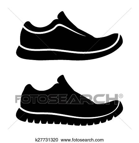 Running shoes icon Clipart