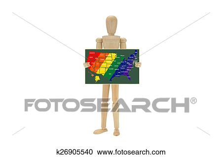 Stock Photography Of Usa Map Gay Pride Colors Chalkboard K26905540