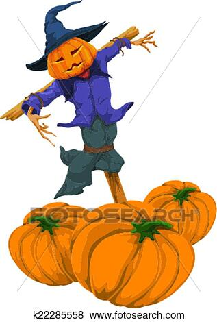 clip art of vector of halloween totem pole k22285558 search rh fotosearch com totem pole clipart free totem pole animals clipart