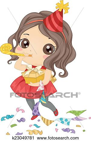 Verjaardag Girl Clipart K23049781